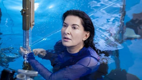 Behind the scenes of Marina Abramovic's Rising image
