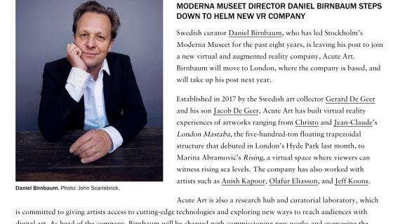 Art Forum – Daniel announcement image