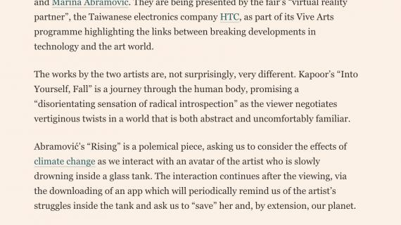 Financial Times – Art Basel HK image